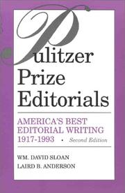 Cover of: Pulitzer Prize editorials |