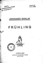 Cover of: Frühling