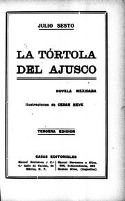 Cover of: La tórtola del Ajusco
