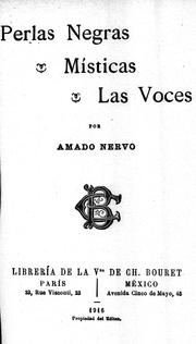 Cover of: Perlas negras: Místicas