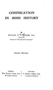 Cover of: Confiscation in Irish history | by William F.T. Butler.
