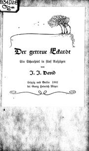 Cover of: Der getreue Eckardt | J.J. David.