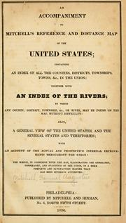 Cover of: An accompaniment to Mitchell's reference and distance map of the United States