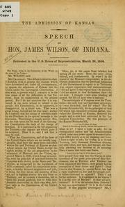 Cover of: admission of Kansas. | James Wilson