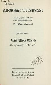 Cover of: Alt-Wiener Volkstheater