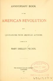 Cover of: Anniversary book of the American revolution