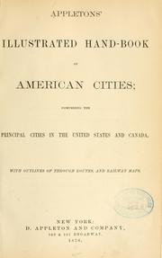 Cover of: Appleton's illustrated hand-book of American cities by