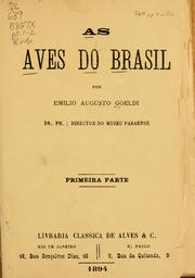 Cover of: As aves do Brasil