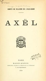 Cover of: Axël