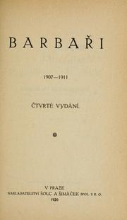 Cover of: Barbai, 1907-1911