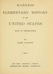 Cover of: Barnes's elementary history of the United States told in biographies