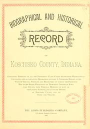 Cover of: Biographical and historical reocrd of Kosciusko county |