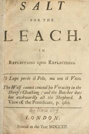 Cover of: Salt for the leach: in reflections upon Reflections.