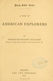 Cover of: A book of American explorers