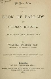 Cover of: A book of ballads on German history