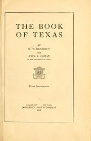 The book of Texas by Harry Yandell Benedict