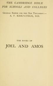 Cover of: The books of Joel and Amos |