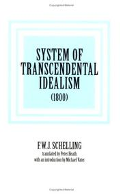 Cover of: System of Transcendental Idealism (1800)