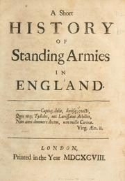 Cover of: A short history of standing armies in England
