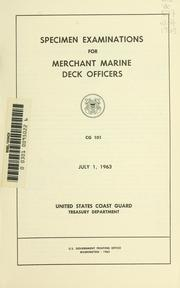 Cover of: Specimen examinations for merchant marine deck officers. | United States. Coast Guard