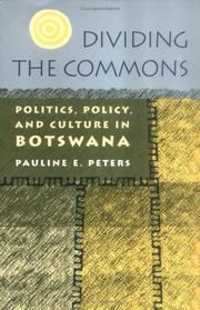 Cover of: Dividing the commons