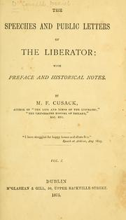 speeches and public letters of the liberator