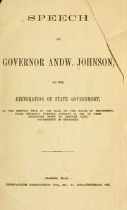 Cover of: Speech of Governor Andw