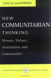 Cover of: New Communitarian Thinking