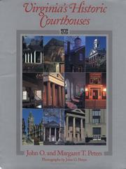 Cover of: Virginia's historic courthouses