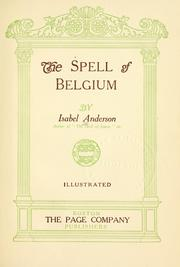 Cover of: The spell of Belgium