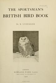 Cover of: The sportsman's British bird book