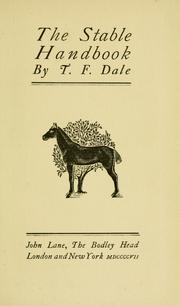 Cover of: The stable handbook | T. F. Dale