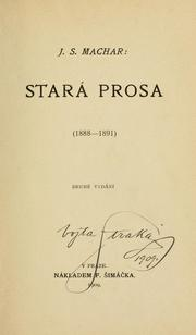 Cover of: Stará prosa