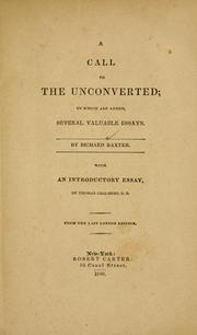 Cover of: A call to the unconverted