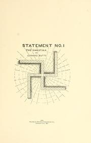 Cover of: Statement no. 1: the swastika | Butts, Edward