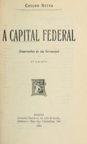 Cover of: A capital federal