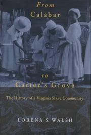 Cover of: From Calabar to Carter's Grove: the history of a Virginia slave community