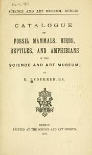 Cover of: Catalogue of fossil mammals, birds, reptiles, and amphibians in the Science and art museum