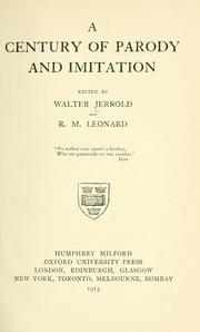 Cover of: A century of parody and imitation