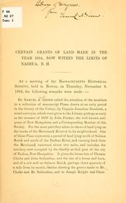 Cover of: Certain grants of land made in the year 1684