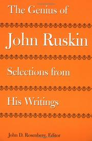 Cover of: The genius of John Ruskin: selections from his writings