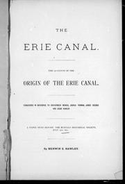 Cover of: The Erie Canal |