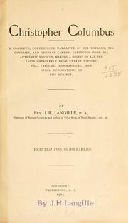 Cover of: Christopher Columbus by J. H. Langille