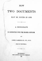 Cover of: How two documents may be found in one |