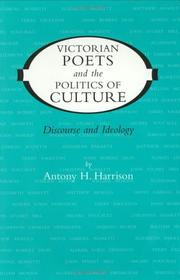 Cover of: Victorian poets and the politics of culture
