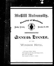 Cover of: McGill University, Faculty of Medicine, Monday evening, December 18, 1882, undergraduates