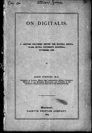 On digitalis by James Stewart