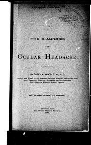 Cover of: The diagnosis of ocular headache