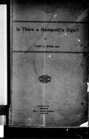 Cover of: Is there a Rampoldi's sign?