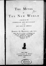 Cover of: The myths of the New World